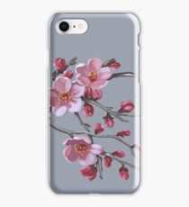 Cherry blossoms - acrylic painting iPhone Case/Skin