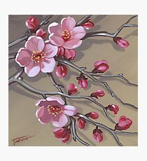 Cherry blossoms - acrylic painting Photographic Print