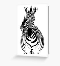 Zebra Alternative Cutout Greeting Card
