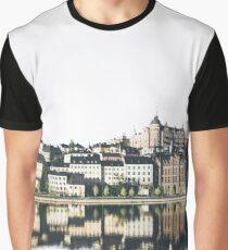 Town on White Background Graphic T-Shirt