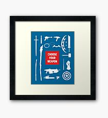 Sci-fi Weapons Framed Print