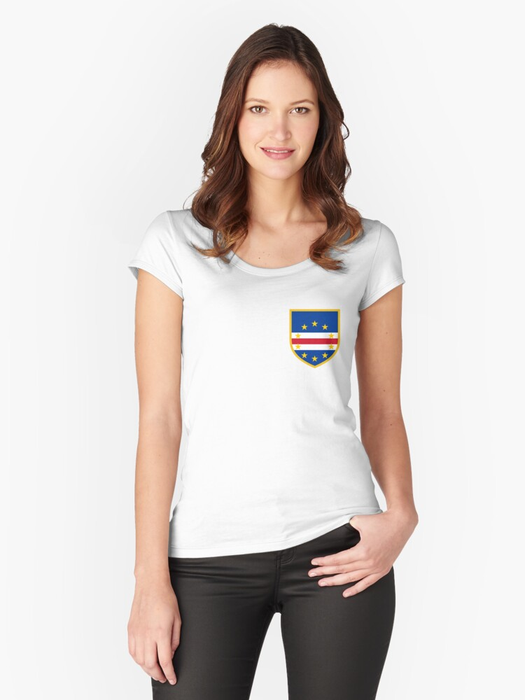 Cape Verdean Flag Women's Fitted Scoop T-Shirt Front