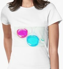 Chemical flasks in Industrial Chemistry Laboratory Women's Fitted T-Shirt