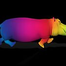 Rainbow Colored Hippo by Mythos57