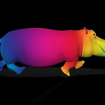 Rainbow Colored Hippo by Mythos57