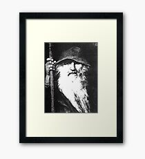Scandinavian Mythology Ancient God Odin Framed Print
