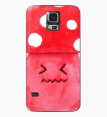 cute annoyed red mushroom watercolor painting  Case/Skin for Samsung Galaxy