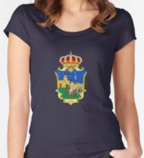Guadalajara coat of arms, Spain Women's Fitted Scoop T-Shirt