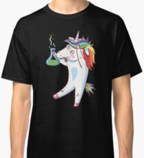 The Dabbing Unicorn Always Love Science Funny Chemistry  Classic T-Shirt