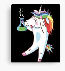 The Dabbing Unicorn Always Love Science Funny Chemistry  Canvas Print