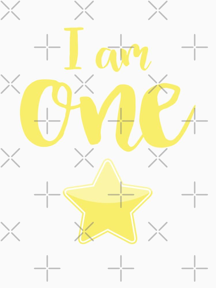 I am one - yellow star by el-em-cee