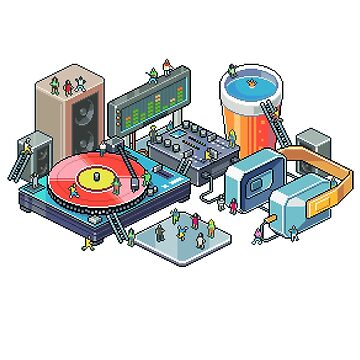 Pixel music party by raynoa