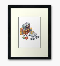 Retro gaming console Framed Print