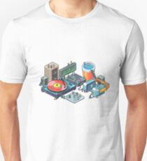 Pixel music party Unisex T-Shirt
