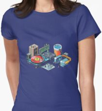 Pixel music party Womens Fitted T-Shirt