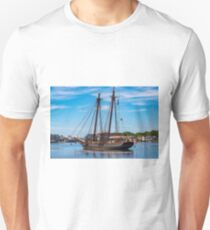 The Amistad Departs Mystic Unisex T-Shirt