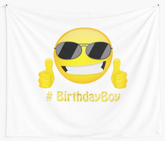Birthday Emoji Shirt For Boys By Kelvil