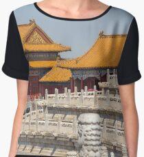 China. Beijing. The Forbidden City. Buildings & Fences. Chiffon Top