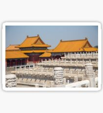 China. Beijing. The Forbidden City. Buildings & Fences. Sticker