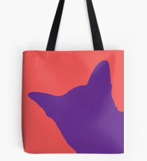 Contrast cat violet Tote Bag