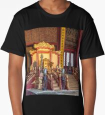 China. Beijing. The Forbidden City. Emperor's Throne. Long T-Shirt