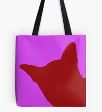 Contrast cat red Tote Bag
