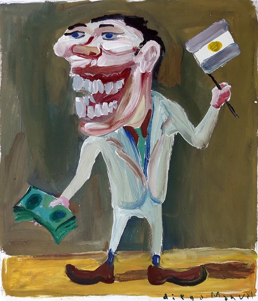 Seller of dollars by Diego Manuel Rodriguez