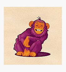 Smiling Monkey Photographic Print