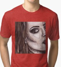 Lana Del Rey watercolour, pencil and pen Tri-blend T-Shirt