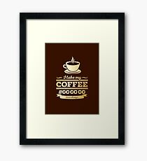 I take my coffee Black - gold Framed Print