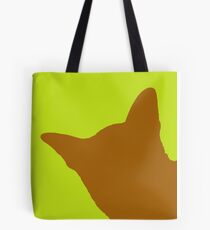 Contrast cat amber Tote Bag