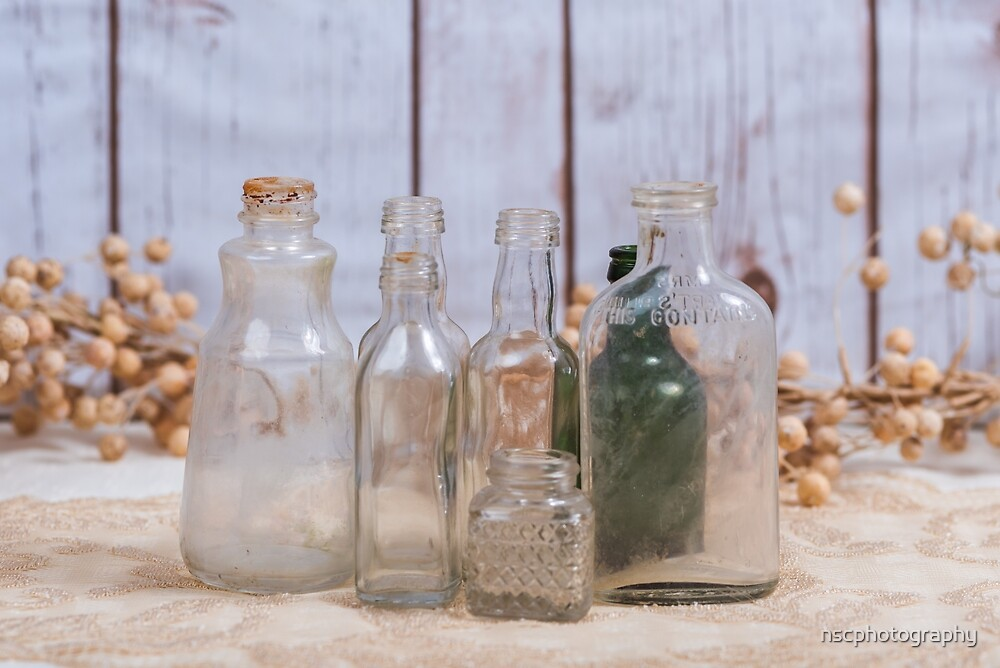 Group of vintage bottles by nscphotography