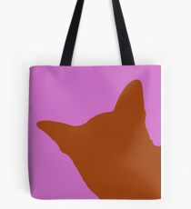 Contrast cat orange Tote Bag