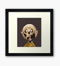 Charlie Brown is a zombie Framed Print