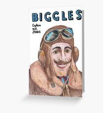 """Biggles"" Greeting Card"