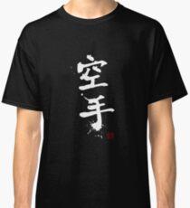 Kanji - Karate in white Classic T-Shirt