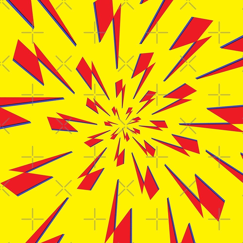 Yellow Lightning Vortex  by Laura Schantz