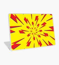 Yellow Lightning Vortex  Laptop Skin