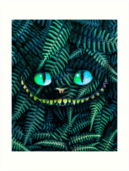 Cheshire Cat Print - Cheshire Cat Poster - Cheshire Cat Wall Art - Alice in Wonderland - Prints - Wall Decor - Alice Prints by RaeCreations