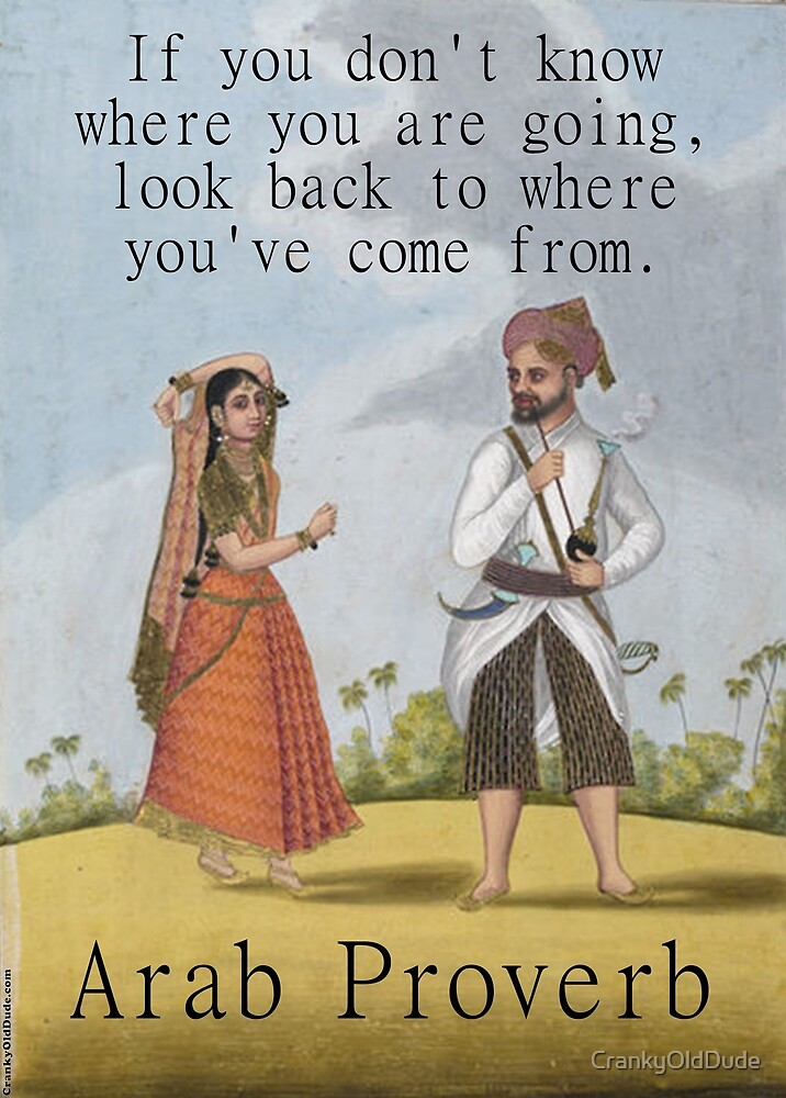 If You Dont Know Where You Are Going - Arab Proverb by CrankyOldDude