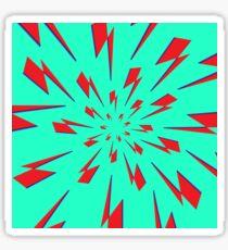 Aqua Lightning Vortex Sticker