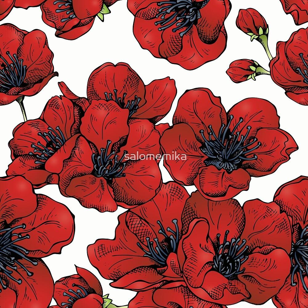 Poppies Pattern by salomemika