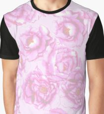 Watercolor Peonies in Pink Graphic T-Shirt