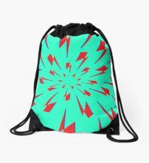 Aqua Lightning Vortex Drawstring Bag