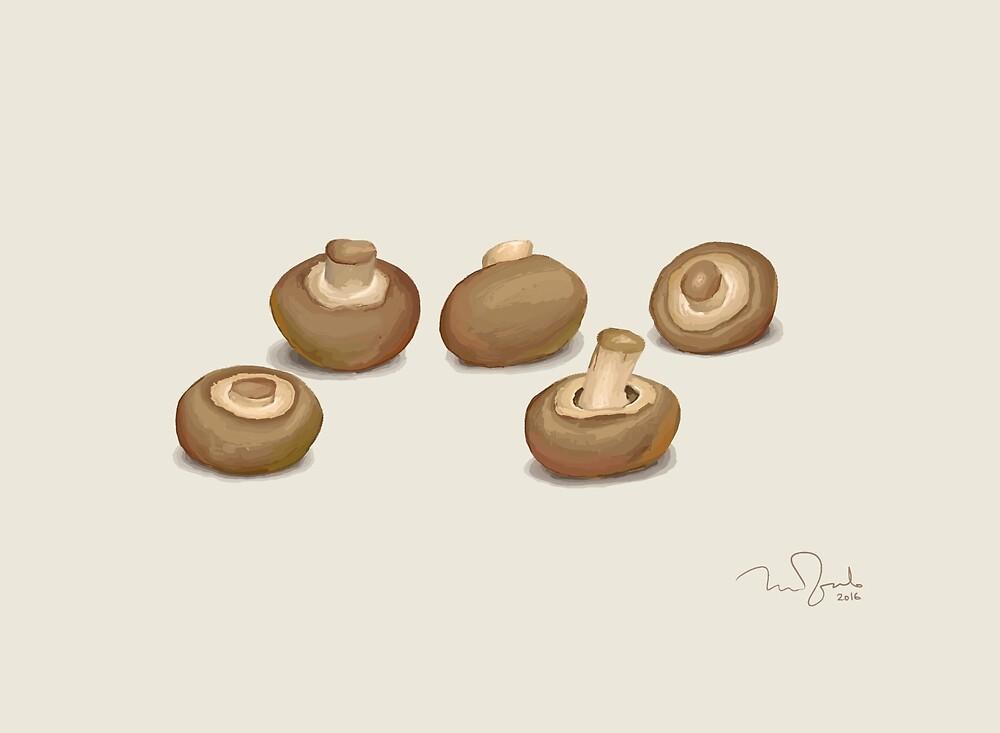 Mushrooms by Penko Gelev