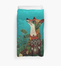 floral fox Duvet Cover