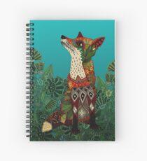 floral fox Spiral Notebook