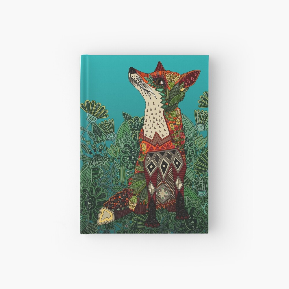 zorro floral Cuaderno de tapa dura