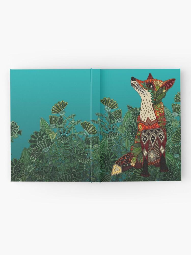 Vista alternativa de Cuaderno de tapa dura zorro floral