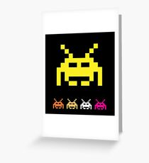 Invader from space  Greeting Card